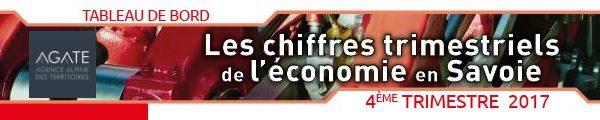 Le tableau de bord de l'économie de la Savoie et de ses territoires du 4ème trimestre 2017 est paru !