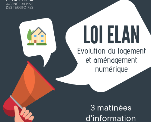 3 matinées d'information su la loi ELAN - Agate