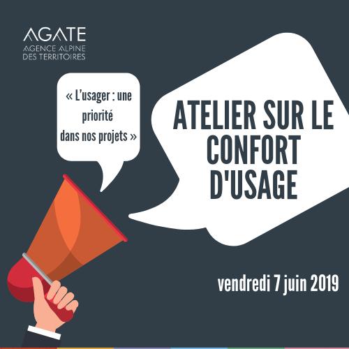 atelier confort d'usage Agate le 7 juin 2019