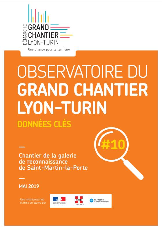 Observatoire du Grand chantier Lyon-Turin : chiffres clés #10 de mai 2019