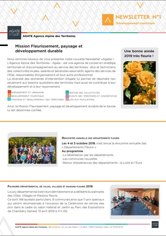 1ère Lettre d'Informations – mission Fleurissement