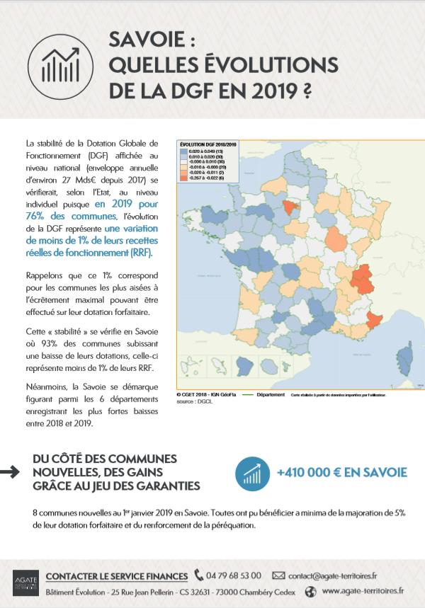 Savoie, quelles évolutions de la DGF en 2019 ?