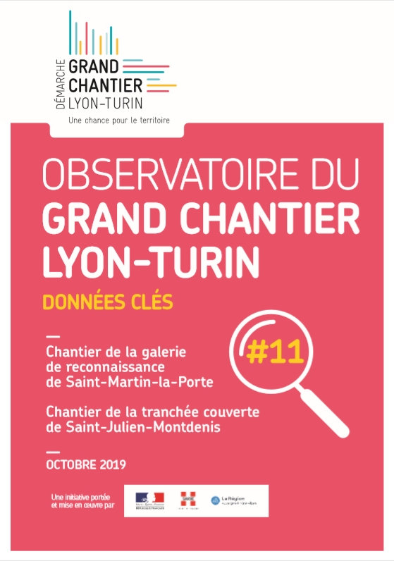 Observatoire du Grand chantier Lyon-Turin : chiffres clés #11 – octobre 2019
