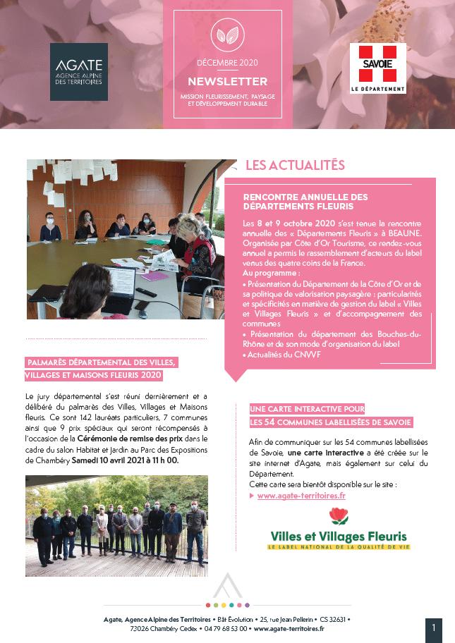 Newsletter Fleurissement – Décembre 2020