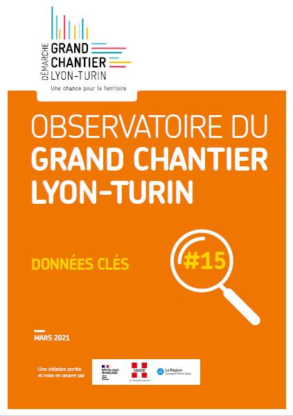 « données clés » n°15 de l'Observatoire Grand Chantier Lyon-Turin