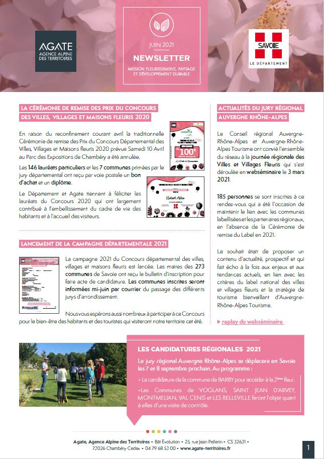 Newsletter Fleurissement – Juin 2021